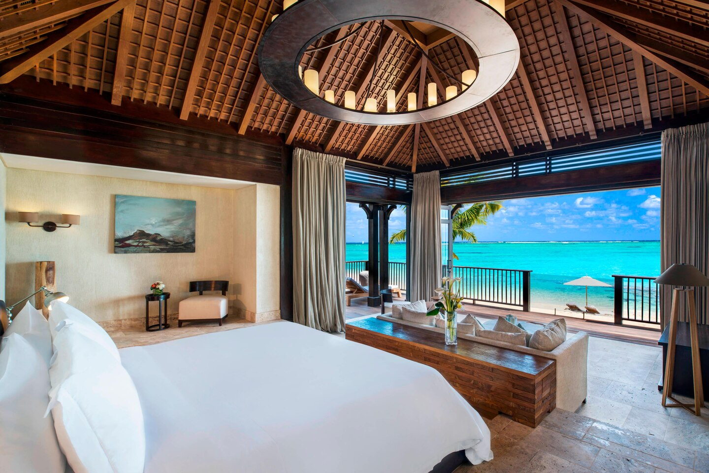 The St. Regis Villa Master Bedroom with view on the Ocean-min
