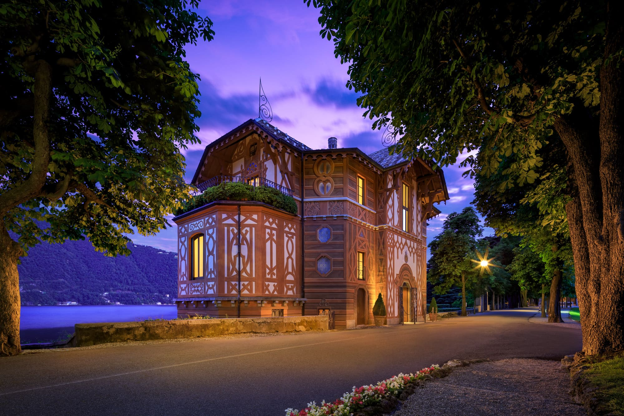 Villa Cima at the sunset