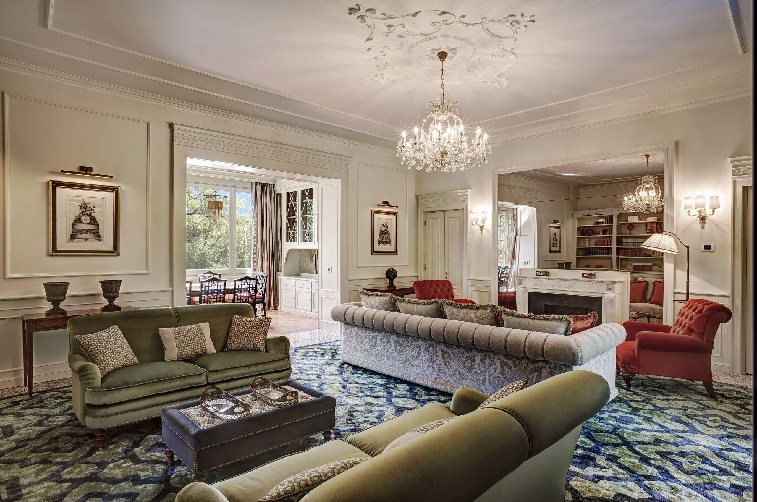 Villa Garrovo, Living room