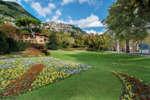 Villa Garrovo, view from the putting green